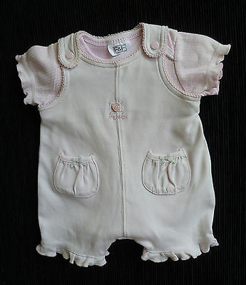 Baby clothes GIRL newborn 0-1m NEXT brushed cotton pink romper/F&F pink bodysuit