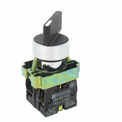 AC 600V 10A 2NO DPST 4 Terminal 3 Position Selector Self-Lock Rotary Switch