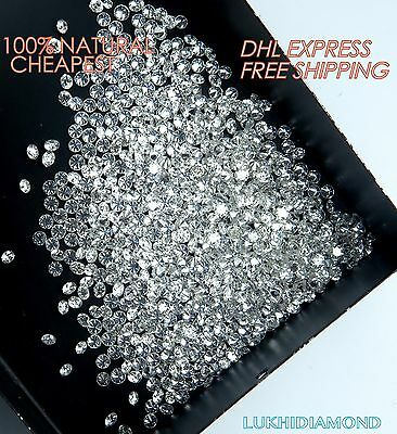 REAL 100% NATURAL Loose Round Diamonds Clarity-SI1 WHITE COLOR GH 0.50 CARAT Lot