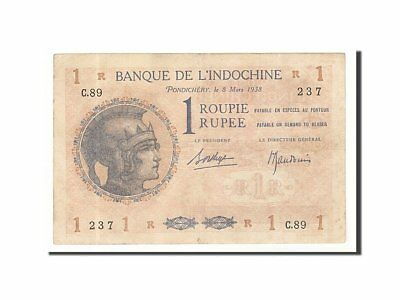 [#158530] French India, 1 Rupee type 1919-45, Pick 4d