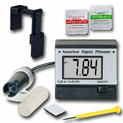 AU Digital pH Meter Tester Monitor 0.00-14.00 Hydroponics Aquarium ATC pH Buffer