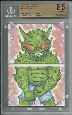 BGS 9.5 2014 Marvel Premier SKETCHES BOOKLET 1/1 Green Goblin by Lord Mesa