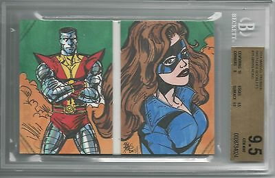 BGS 9.5 2014 Marvel Premier SKETCHES BOOKLET 1/1 Wolverine/Colossus Brian Kong