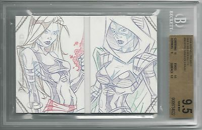 BGS 9.5 2014 Marvel Premier SKETCHES BOOKLET 1/1 by Ryan Van Der Draaij