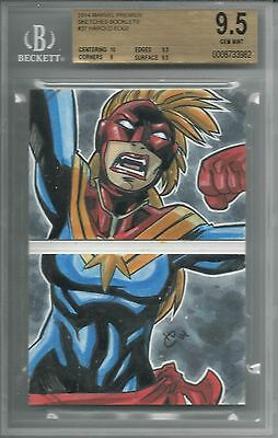BGS 9.5 2014 Marvel Premier SKETCHES BOOKLET 1/1 Nova by Harold Edge