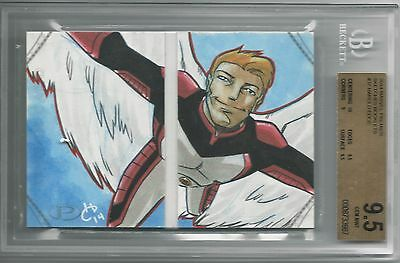 BGS 9.5 2014 Marvel Premier SKETCHES BOOKLET 1/1 Angel by Harold Edge