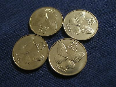 """1992 Philippines coin,   """"BUTTERFLY"""",   Uncirculated beauty 25 sentimos 1 coin"""