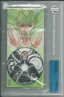 BGS 2014 Marvel Premier TRIPLE PANEL SKETCH 1/1 Polaris / Havok by Chartier