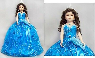 """26"""" Quinceanera Doll - 15 Doll - Spanish Doll - Turquoise 1 Pc  (# EQDoll26)"""