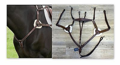 HDR Pro 5 Point Elastic Breastplate Martingale w/Running HORSE Aust Nut 5098-08H