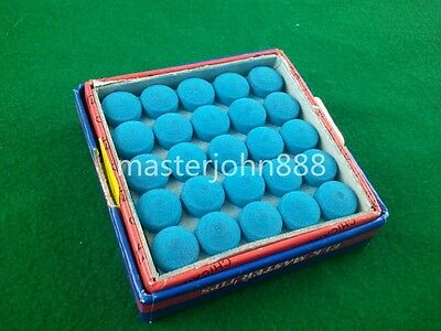 50pcs Glue-on Pool Billiards Snooker Cue Tips 10mm Free Shipping