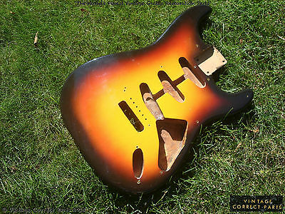 Vintage 1959 Fender Stratocaster Body PRE-CBS Tone Wood Strat Project 1958 1957