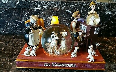 HTF Disney Dalmatians 101 THE FAMILY IS HERE Musical LITE UP Snow Globe RARE