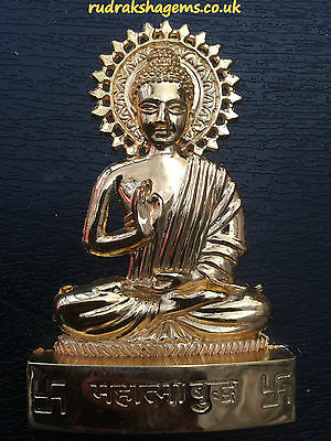 Buddha Sakyamuni Budha Tibet Oriental Antique Metal Mini Statue Car Dash Board