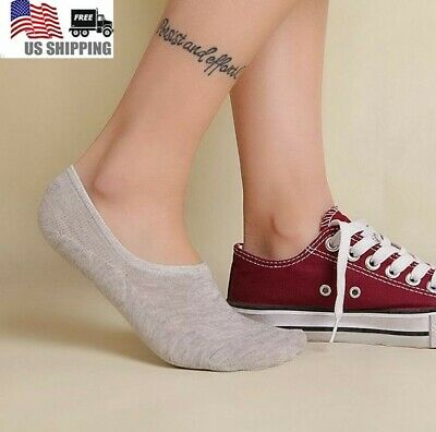 10 Pack Women Ankle Invisible No Show Nonslip Loafer Boat Liner Cotton Socks Lot