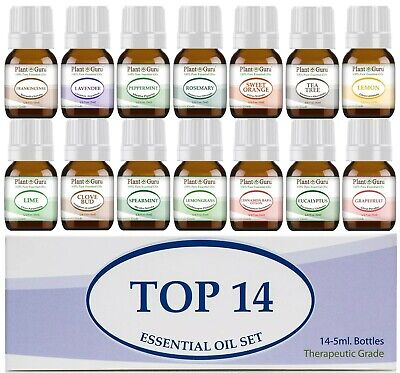 Essential Oil Set Gift Kit 14 - 5ml 100% Pure Therapeutic Grade Sampler Bulk Lot