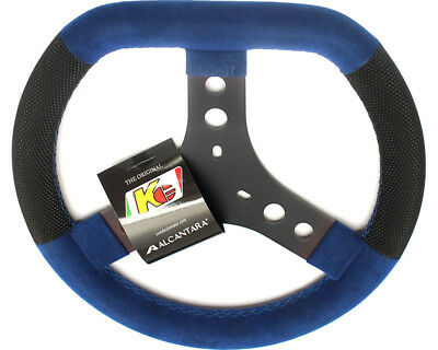 KG Flat Top Cadet Steering Wheel Blue UK KART STORE