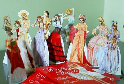 Paper Doll Femme Fatale Collection Marie-Antoinetted,Cleopatra,Marilynmonroe ect