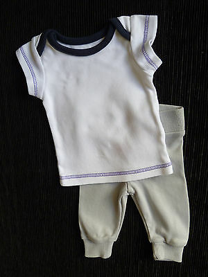 Baby clothes BOY premature/small baby<7.4lbs/3.2kg M&S outfit top/soft trousers