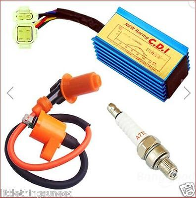 50-150cc,Chinese,Scooter,ATV,Racing,Ignition,Coil,Spark,Plug,CDI,GY6,jonway,sym,