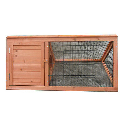 New Wooden Triangle Rabbit Chicken Hen Guinea Pig Cage Hutch Pet House P032