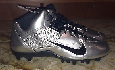 NIKE Speedlax IV Lacrosse Metallic Silver Black Cleats LAX NEW Mens Size 11.5