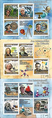 Sao Tome And Principe 2009 Mini Sheet Set ** Scientists Einstein Kopernik Darwin