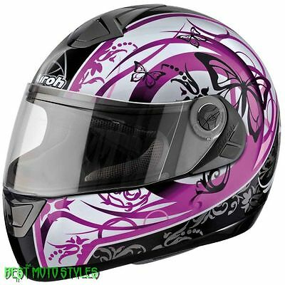 MODULAR AIROH ASTER-X BUTTERFLY Full Face Helmet Motorcycle Thermoplastic black