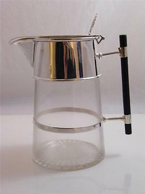 Silver Plate, Ebony & Clear Glass Decanter C.dresser Style