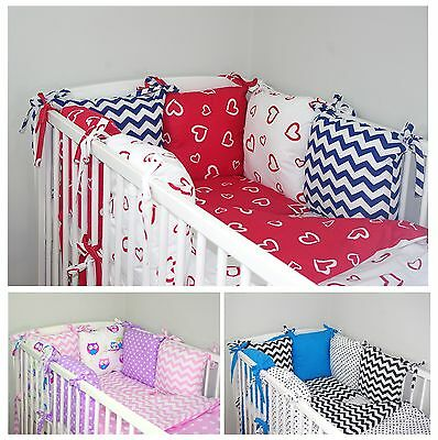 NEW 8 PCS BABY BEDDING SET FOR COT / COTBED with PILLOW BUMPER NEWEST DESIGNS