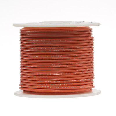 "16 AWG Gauge Stranded Hook Up Wire Orange 100 ft 0.0508"" UL1007 300 Volts"