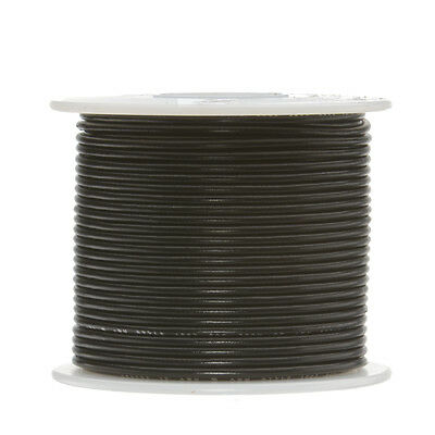 "22 AWG Gauge Solid Hook Up Wire Black 250 ft 0.0253"" UL1007 300 Volts"