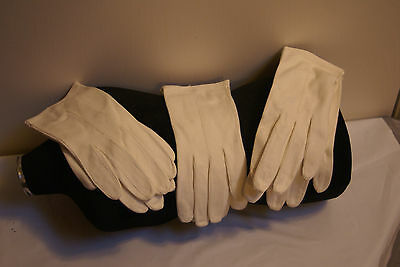 3 new pair of vintage leather gloves NWOT Vintage White wedding so soft size 7
