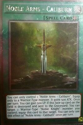 Caliburn Platinum Rare Limted Edition Mint YuGiOh Card NKRT-EN021 Noble Arms