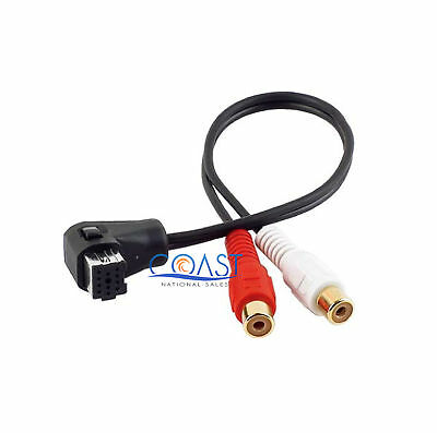 RCA Cable to Pioneer IP-BUS Auxiliary Input Adapter Cable PIPBXR