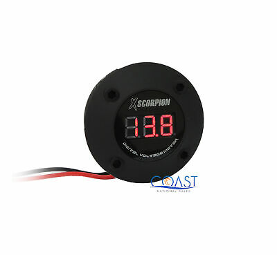 Xscorpion DVM3RB 3-Digit Digital Voltage Red LED Display Round Meter - Black