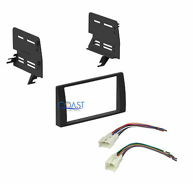 Single Double DIN Installation Dash Kit w/harness for 2002-2006 Toyota Camry