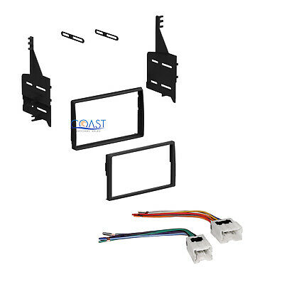 Single Double DIN Stereo Dash Kit w/Female Harness for 2005-2006 Nissan Altima