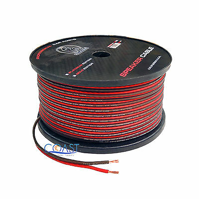 Red 150 Ft True 10 Gauge AWG Car Home Audio Speaker Wire Cable Spool BPES10.150