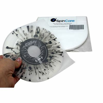 "Spin Care Premium 7"" Anti-Static Inner Vinyl Record Sleeves (Pack of 100) Neue"