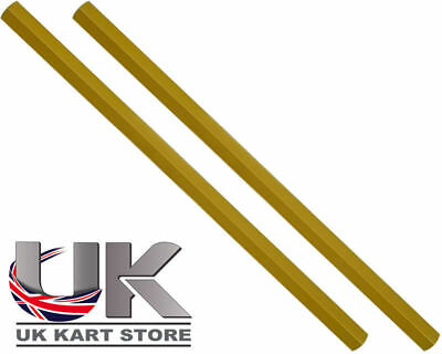 Track / Tie Rod 255mm x M8 Hex Gold x 2 UK KART STORE