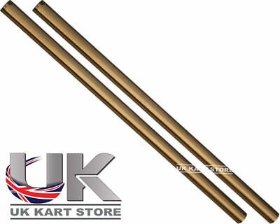 Track / Tie Rod 270mm x M8 Round Gold x 2 Go Kart Karting Race Racing