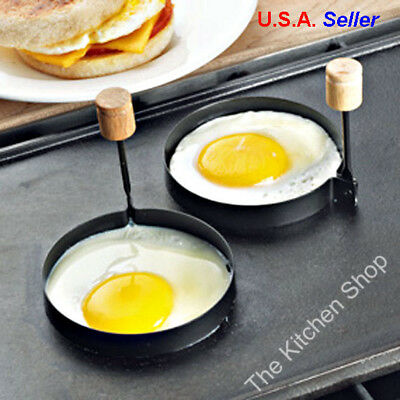 Round Egg Rings Set of 2 Pancake Molds Ring - Kitchen Tools Gadgets (Free Ship)