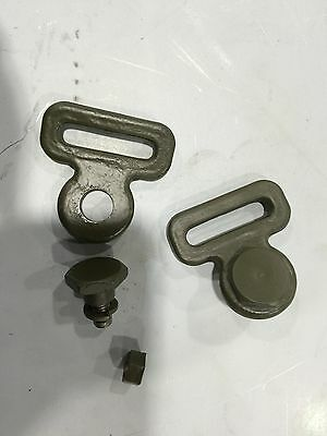 Willys Mb Safety Strap Buckle And Anchor Bolt One Pair