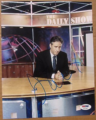 Jon Stewart signed 8x10 photo Daily Show on Set PSA/DNA autograph