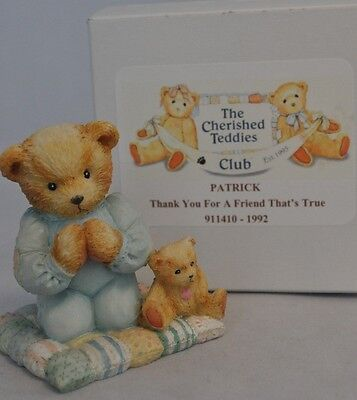 Cherished Teddies - Patrick - 911410 - Thank You For A Friend That's True