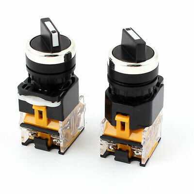 Ith 10A Ui 380V 3 Positions On/Off/On 4 Screw Terminals Rotary Switch 2pcs