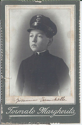 1900s CABINET PHOTO IDENTIFIED? YOUNG ITALIAN NAVY SAILOR? CADET? MIDSHIPMAN?