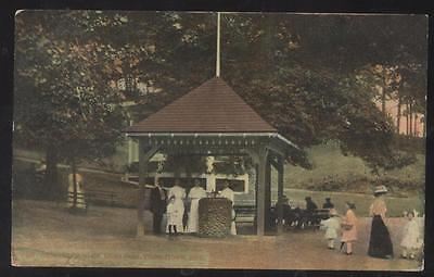 POSTCARD YOUNGSTOWN OHIO IDORA PARK Water Drinking Fountain Pavilion #1 1907
