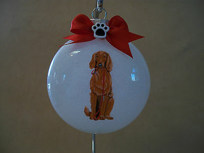 """VERY Unique Handmade Irish Setter 3"""" Acrylic Round Ornament~Made In The USA, NEW"""